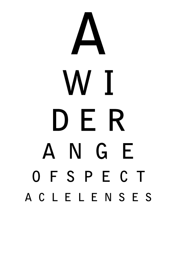 A wide range of spectacle lenses